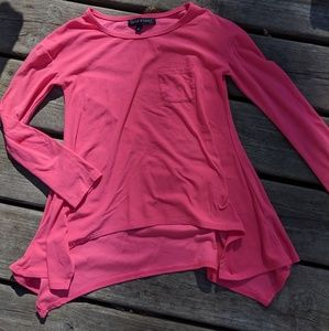 Girl's long sleeve top, pink, size 7/8